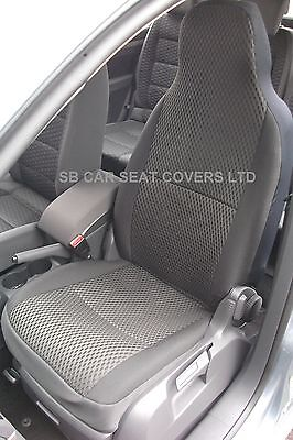 BMW i Spec siège voiture Couvre-Anthracite similicuir CSC004-2 Fronts