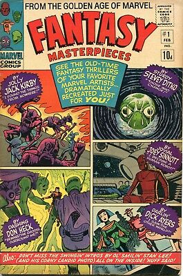 Fantasy Masterpieces # 1 - 60's Ditko & Kirby Reprints - Scarce In Uk - 1966