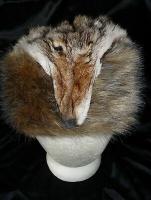 Mountain Man, Boone Coyote Real Fur Hat Handmade