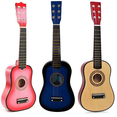 """23"""" 6 String Guitar Wooden Acoustic Concert Classic Boys Girls Learn Wood Toy"""