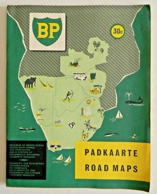 vintage map of South Africa dated 1955. Published by BP. Dual language