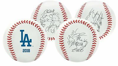 Rawlings 2018 Los Angeles Dodgers MLB Team Logo Roster Autograph Baseball