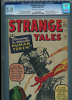 Strange Tales # 101 - First In Solo Human Torch Series - Cgc 5.0 - Key - 1962