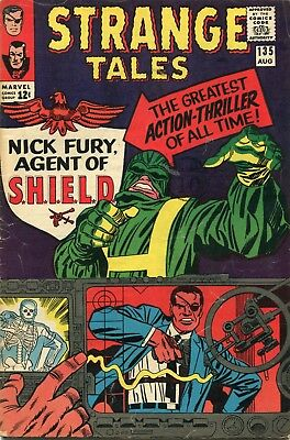 Strange Tales # 135 - 1St Nick Fury Agent Of Shield - Key - Dr.strange - Cents