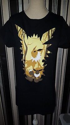 "Pokemon T-Shirt """"Evoli/Blitza"""" Anime Gr XL"
