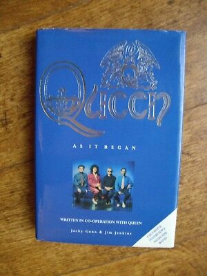 Queen...as It Began Hardback Book Signed By Author/fan Club Manager: Mercury.