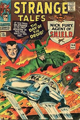 Strange Tales # 144 - Nick Fury Agent Of Shield - Dr Strange - Jack Kirby -Ditko