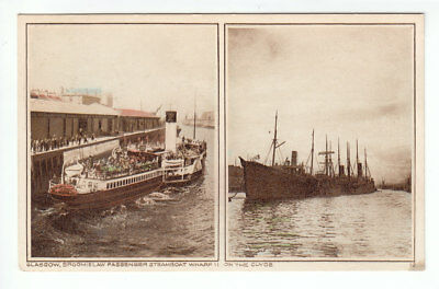 Glasgow Broomielaw Passenger Steamboat Wharf II Steamers On The Clyde Early 1900