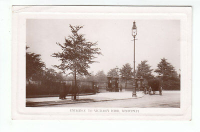 Victoria Park Entrance Gates Whiteinch Glasgow Real Photograph WH G&A Herald