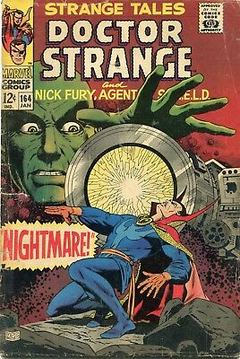 Strange Tales # 164 - Nick Fury - Dr. Strange - Steranko Art - Cents Copy
