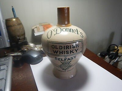 O' Donnel's Old Irish Whisky Belfast Jug Scotch Stoneware old great condition gr