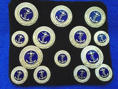 Set Of Royal Navy Fleet Officers Buttons As Worn At Trafalgar By Lord Nelson