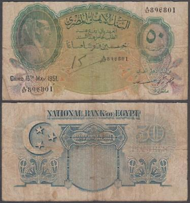1951 National Bank of Egypt 50 Piastres