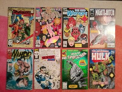 huge foil comic lot spider man hulk silver surfer 75  100 1 avengers namor 50