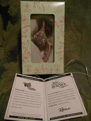 Just The Right Shoe~Collectible~Spring Time Romance~New In Box~Mint Condition