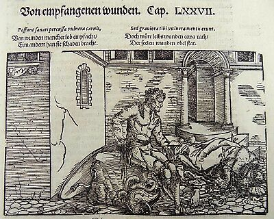 1532 Hans Weiditz - Master Woodcuts -  From receiving wounds [1560]