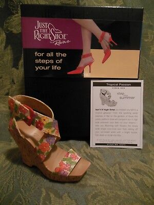 Just The Right Shoe~Collectible~Tropical Passion~New In Box~Mint Condition