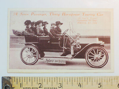 Nyberg Automobile Works Touring Car Advertising Trade Card