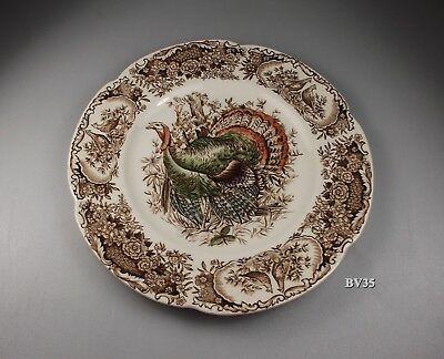 "Johnson Brothers Wild Turkeys Native American Salad Plate  8""  Plates -Excellent"