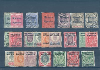British MORROCO agencies MH/used stamps (CV $330 EUR287)