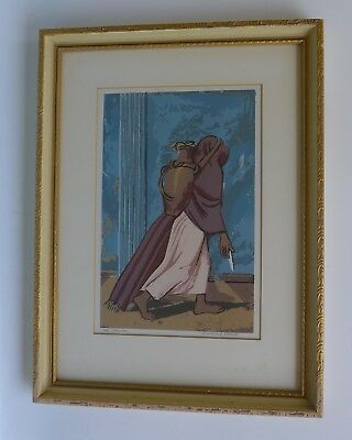 Vintage Early California MILLARD SHEETS The Spinner framed print pencil signed