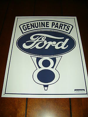 Ford Genuine Parts V8 - Rat Rod Muscle Car Hot Rod --Brand New Metal Sign--