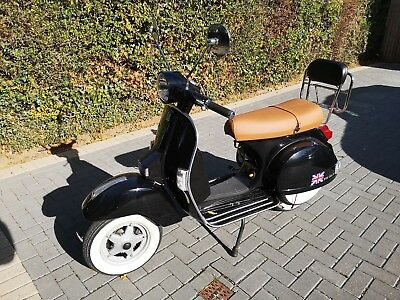 PIAGGIO PX 125 VESPA SCOOTER, Black, 7371 Miles, Good Condition, MOT 10/9/2019