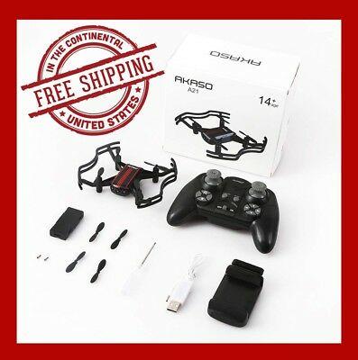 Drones with Camera Live Video AKASO A21 Quadcopter Drone 720P HD FPV WiFi RC