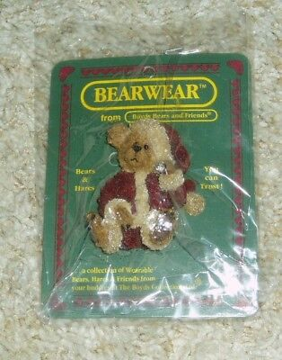 Boyds Bears And Friends Bearwear Sandy Claus ...have A Simple Christmas Pin New!
