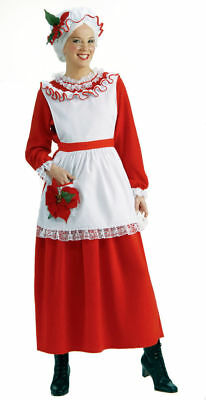 Classic Mrs Claus Santa Christmas Red Dress Holiday Costume 2pc Set ADULT