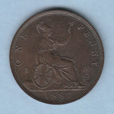 Great Britain.  1887  Penny..  Lustre in parts ..  gEF