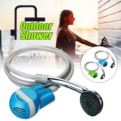 Portable USB Rechargeable Shower Head Outdoor Camping Hiking Bathing Water