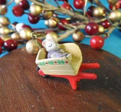 Hallmark Miniature Ornament 1993 Tiny Green Thumbs 1 out of 6 Mice Mouse