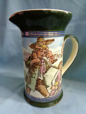 RARE Antique Royal Doulton Rip Van Winkle Pitcher - Children Flying Kites Series
