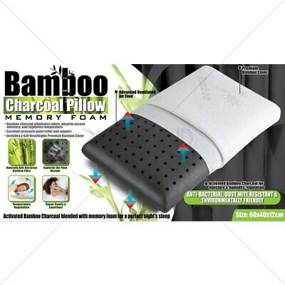 BAMBOO CHARCOAL PILLOW High Quality Breathable Memory Foam Washable Pillow Case