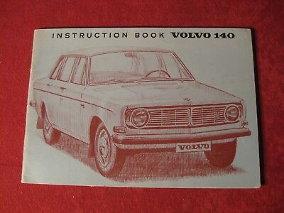 1969? Volvo 140 Original Owner's Operator's Manual Instruction Book Old booklet
