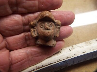 RARE Effigy Pre-Columbian Ancient Artifact  FIQURE HEAD LOT #2
