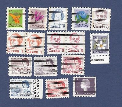 Mixed Lot of Canada Pre-Cancel Stamps Queen Elizabeth mostly MNH