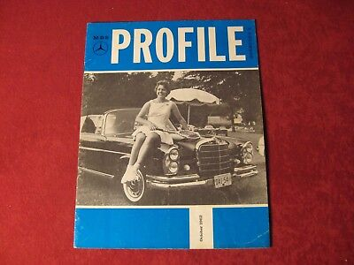 1962 Mercedes Benz Profile Original Showroom Sales Brochure Old Booklet Catalog