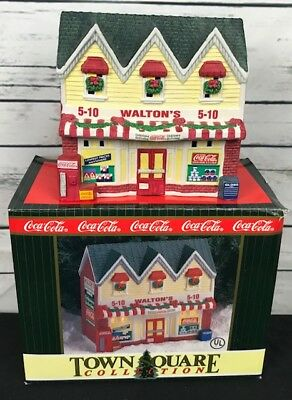 Coca-Cola 1996 Christmas Town Square Collection Waltons 5 10 Store House