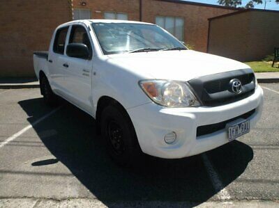 2009 Toyota Hilux TGN16R 08 Upgrade Workmate White Manual 5sp M