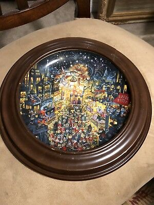 Collector Plate Purring in the Mew Year Franklin Mint Heirloom Bill Bell