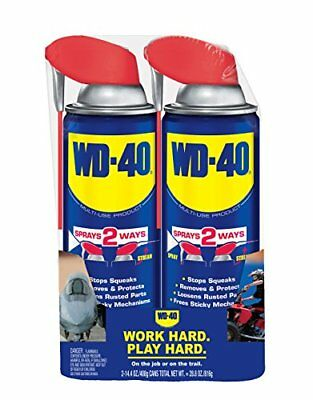 1+1 Free WD-40 490224 Multi-Use Product, 14.4 oz. Smart Straw Twin-Pack