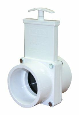 "Valterra 6301 Pvc Gate Valve White 3"" Slip Pvc Hubs & Body For Resistance To New"