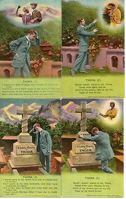 Bamforth Song Card * Thora  * Wwi Soldier * Set Of 4 *4779* X24