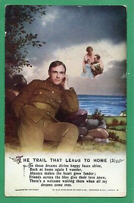 Bamforth Song Card * The Trail That Leads To Home * Wwi  Soldier *4982 (3) * X37