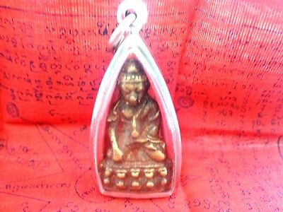 Thai Amulet Old Phra Kring Wat Phrakaw Bangkok  Buddha Very Rare Magic Talisman