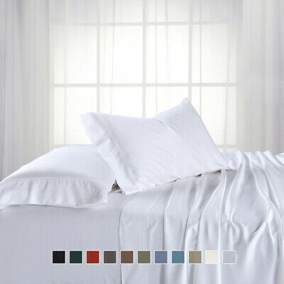 Luxury Top Split King Hybrid Rayon Blend of Bamboo and Cotton Sheets 300 TC Set