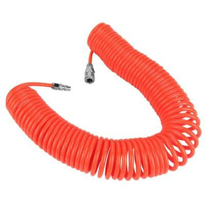 8*5mm Flexible PU Recoil Air Hose with Joints for Air Compressor Pump Red 9m/12m