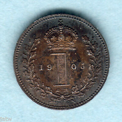 Great Britain.  1905 Maundy Penny..  UNC
